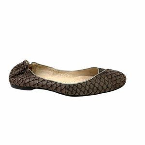 ALL BLACK fish Scales Ballet flats Size 38 US 8